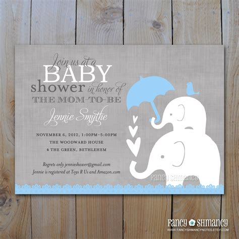 free printable elephant baby shower invitations elephant baby shower invitation printable baby boy shower