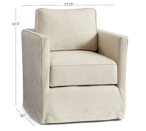 swivel chair definition soma track arm slipcovered swivel chair pottery barn