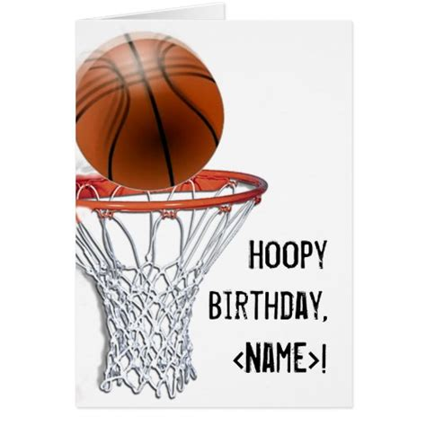 imagenes de happy birthday basketball basketball birthday cards zazzle
