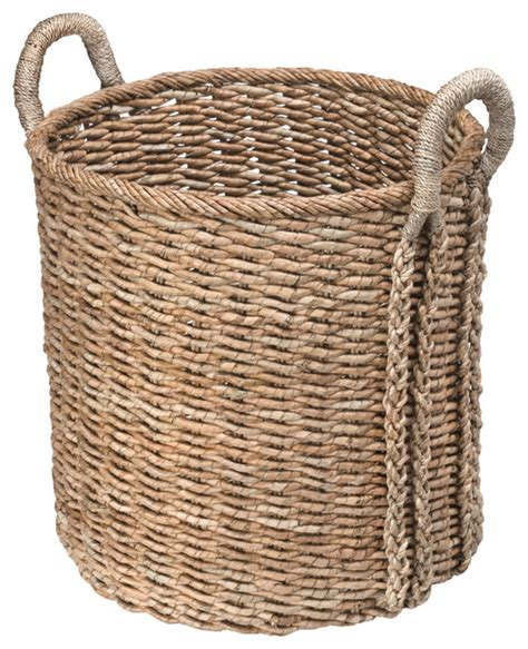 natural seagrass round wicker basket storage waste paper round seagrass basket large contemporary baskets
