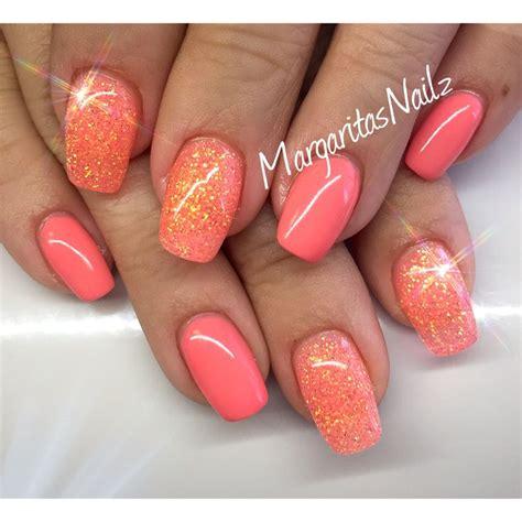 number 1 summer nails orange coral summer nails margaritasnailz nails