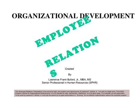 Mba Organizational Development by Employee Relations