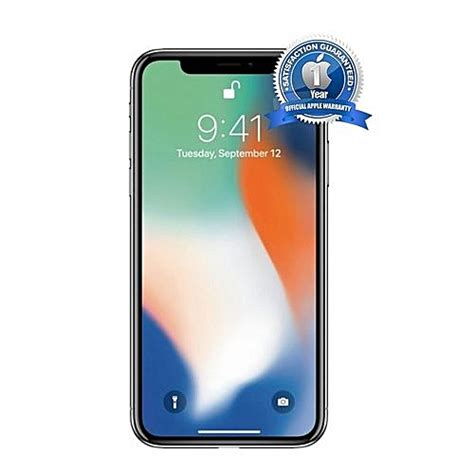buy apple iphone x 5 8 quot 64gb 3gb ram 12mp 4g silver best price
