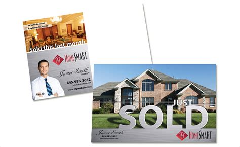 Custimazable Templates For Post Cards Real Estate by Home Smart Postcards Realty Studio Design