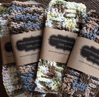 label template   dishcloths  crochet
