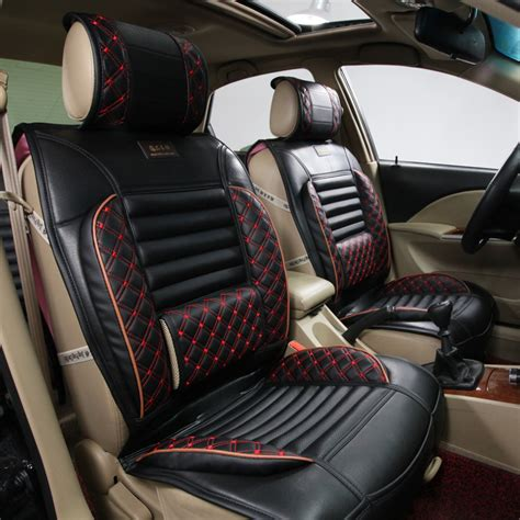 luxury car seats covers 2pillows as gift high quality embroidery danny leather car