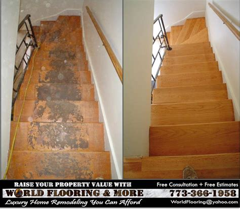 wood stairs installation and stair repair in chicago and