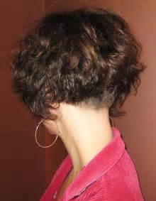 pictures of the back of curly stacked hair clippered nape bob haircut hairstyle gallery
