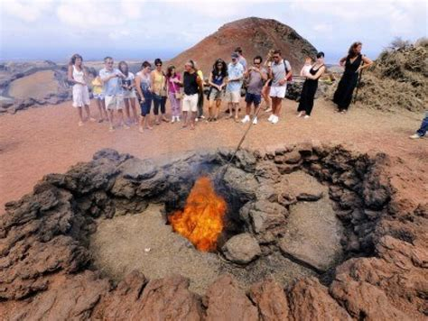 Ac National Setengah Pk timanfaya national park lanzarote cooking using volcanic