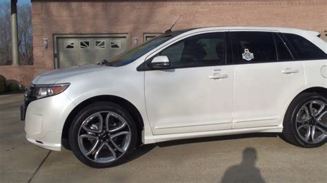 pearl ford edge hd 2013 ford edge sport platinum white used fro sale