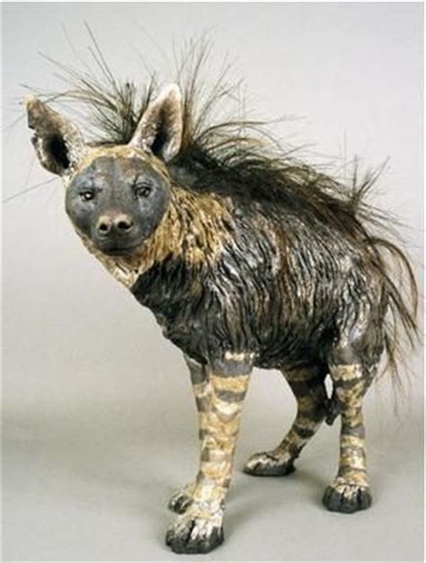 Animal Fernlie 2 hyena clay animals and animal sculptures on