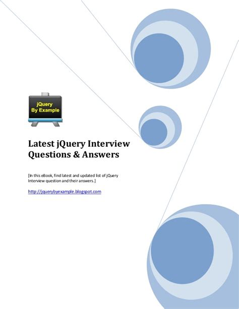 jquery tutorial interview questions jquery interview questions