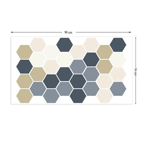geometric wall stickers geometric hexagons wall stickers by the binary box