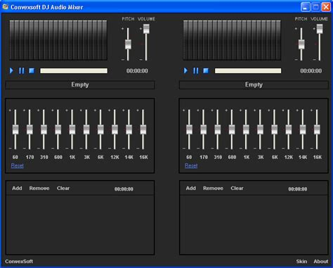 convexsoft dj audio mixer image full featured dj and beat convexsoft dj audio mixer software informer screenshots