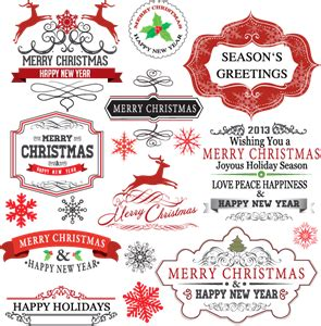 holiday  gift logo vectors