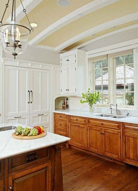 english country style kitchens english arts crafts marble countertops white subway