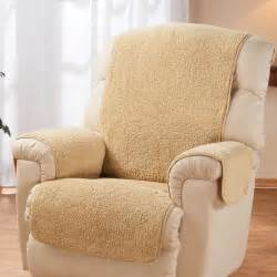 sheepskin covers for recliner chairs sherpa recliner protector by oakridge comforts chair
