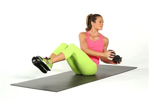 seated russian twist best ab exercises using weights popsugar fitness photo 4