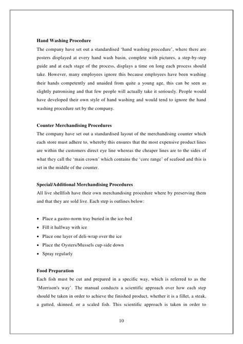 The Organisation Written Report