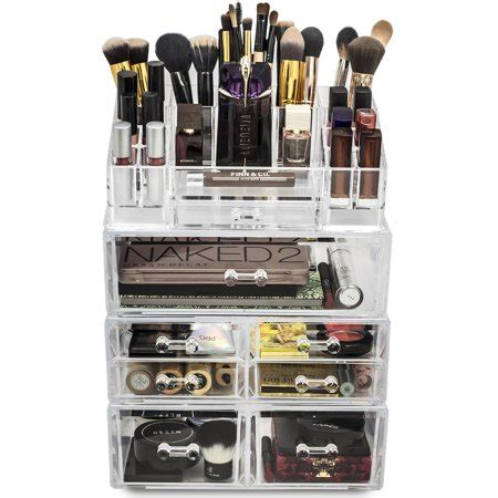 sorbus acrylic 5 drawer with sectional organizer sorbus acrylic cosmetics makeup and jewelry storage