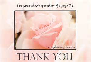 sympathy thank you card easyday