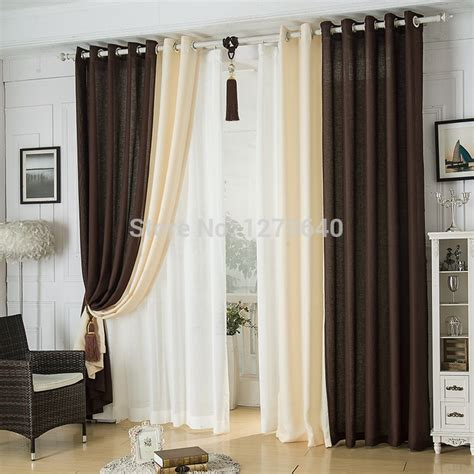 modern linen splicing curtainsdining room restaurant hotel blackout curtains design fashion window roman curtains bedroom
