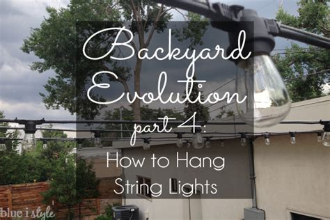 How To Hang Lights On House by Outdoor Style How To Hang Commercial Grade String Lights
