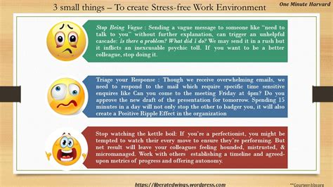 The Top 5 Things For A Stress Free by 3 Small Things For A Stress Free Work Environment