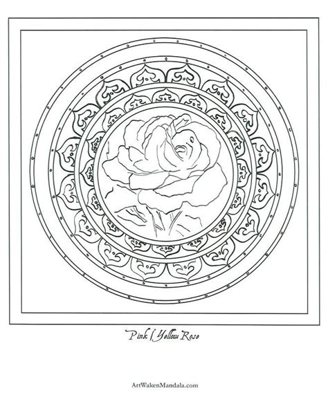 mandala coloring pages roses color mandala printable zia