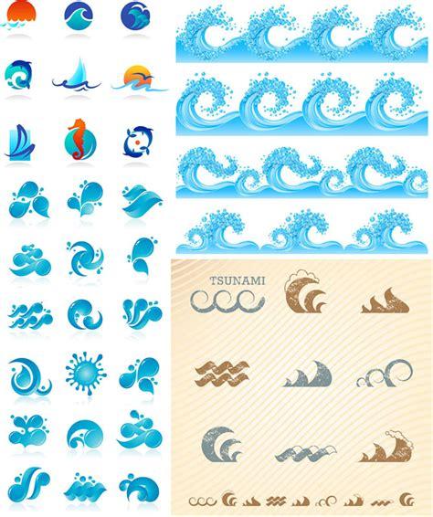 sea wave logos vector free stock vector sea wave logos vector vector graphics