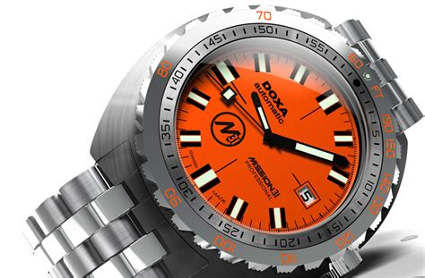 doxa dive doxa mission 31 sub professional monochrome watches