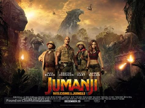movies out now jumanji welcome to the jungle by dwayne johnson jumanji welcome to the jungle british movie poster