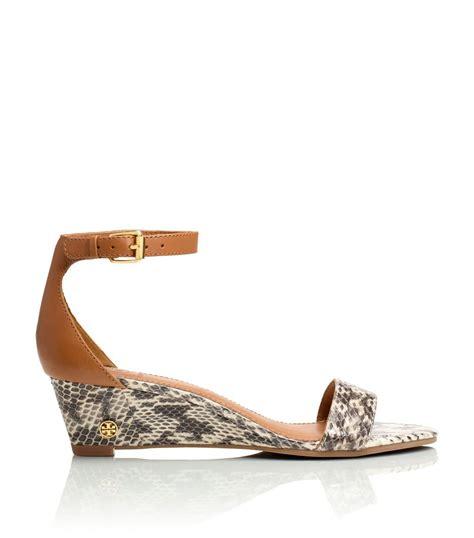 snakeskin wedge sandals burch snakeskin wedge sandal in animal
