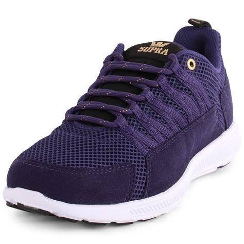 supra owen pack mens mesh purple trainers new shoes