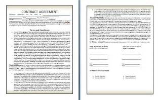 contracts and agreements templates qualified contract agreement template exle in two page