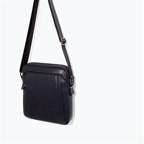 Zara Blue Mini Bag zara sporty mini messenger bag in blue for lyst