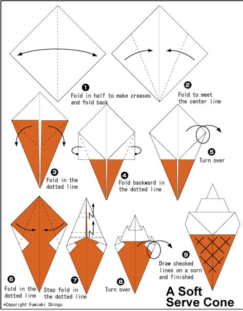 Origami Things To Make - origami soft serve cone things to make and do