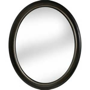 oval bathroom mirrors rubbed bronze shop allen roth 24 in x 30 in oil rubbed bronze oval framed wall mirror at lowes com powder