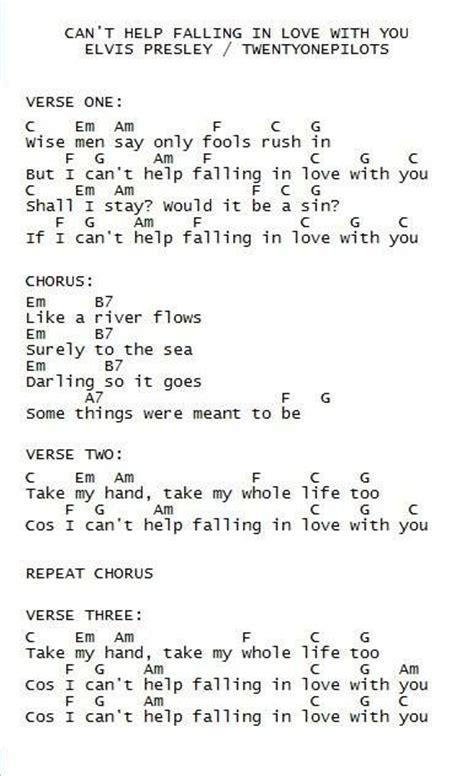 help testo can t help falling in elvis ukulele song