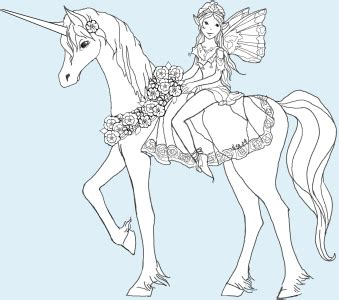 fairy unicorn coloring page unicorn and rider puppet instructions