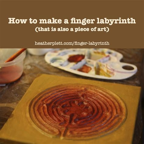 to finger how to make a finger labyrinth that is also a piece of