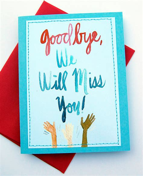 you will be missed card template items similar to goodbye we will miss you card on etsy