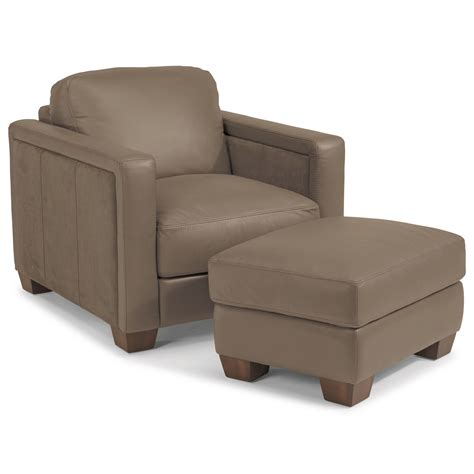 Furniture Ottoman Flexsteel Latitudes Wyman Contemporary Chair And Ottoman