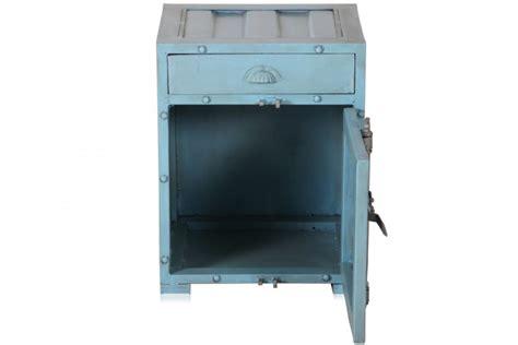 nachttisch blau industrial chic eisen nachtschrank nachttisch container