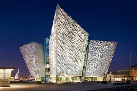 famous architect shimmering titanic belfast museum celebrates the famous