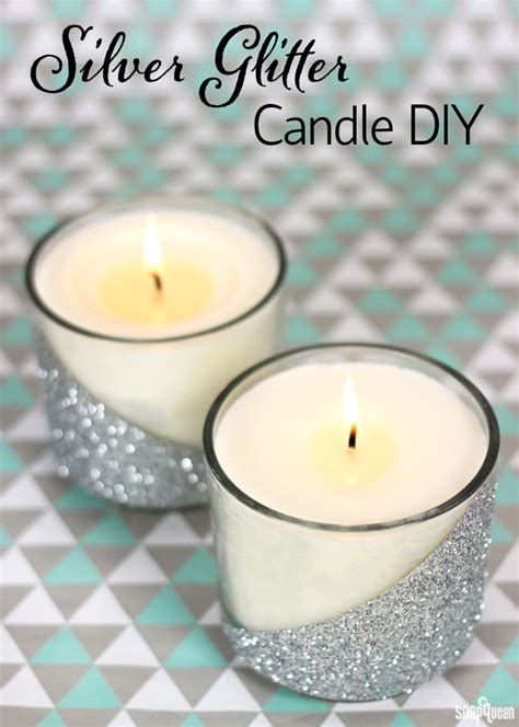 diy candles silver glitter candle diy soap