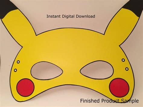 printable pokemon mask pokemon go mask cut file printable pikachu mask by