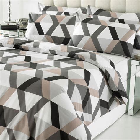 black and white geometric comforter linens limited loft geometric print duvet cover set black