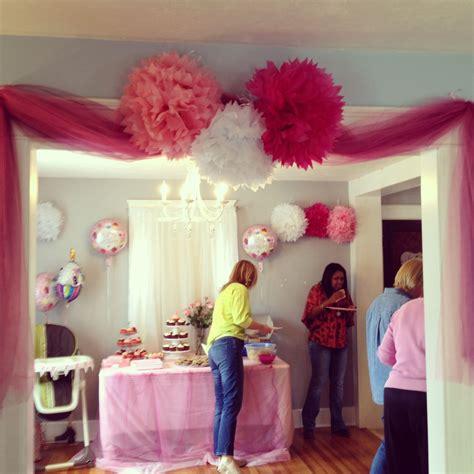 bridgettes st birthday party decorations pink tutu