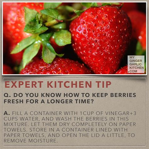 do you know how to keep berries fresh for longer time kitchen tips my ginger garlic kitchen